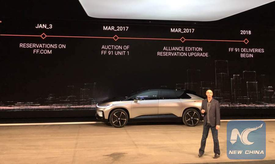 """Chinese-backed Faraday Future unveils """"fastest accelerating electric car in the world"""""""