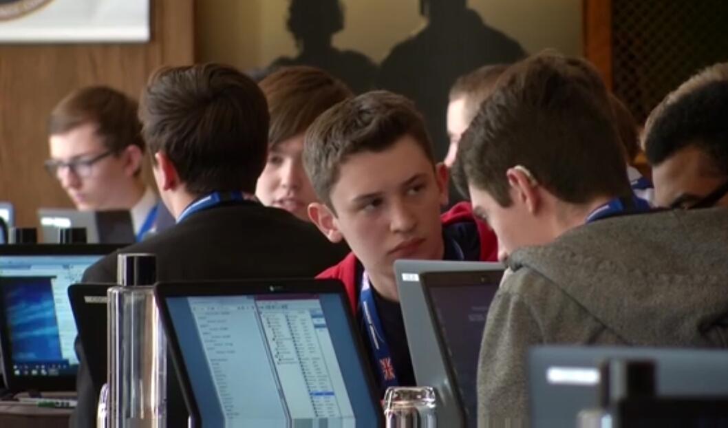 The schoolchildren trained in cyber warfare