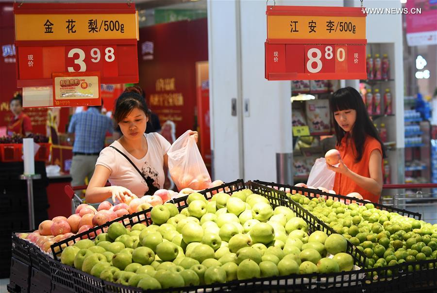 China's consumer inflation up 1.4 pct in July