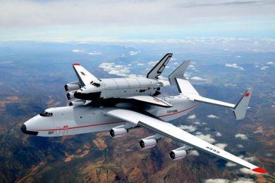 Antonov AN-225 carrying the Buran space shuttle – Courtesy Antonov Corporation