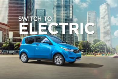 Mahindra and Mahindra e20Plus electric hatchback – courtesy pf Mahindra and Mahindra