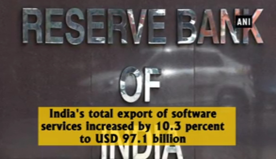 India's export of software services increased by 10.3% in 2016-17: RBI