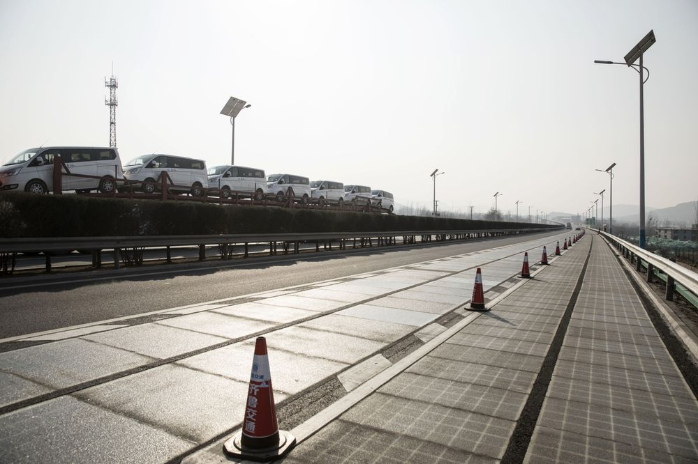 The solar highway that can recharge electric cars on the move