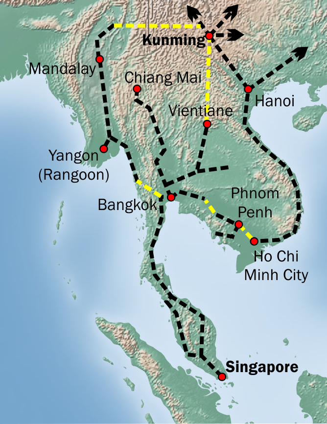 Belt and Road initiatives in Asian countries – The rail connection