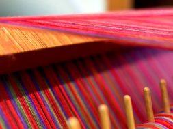 threads on a loom