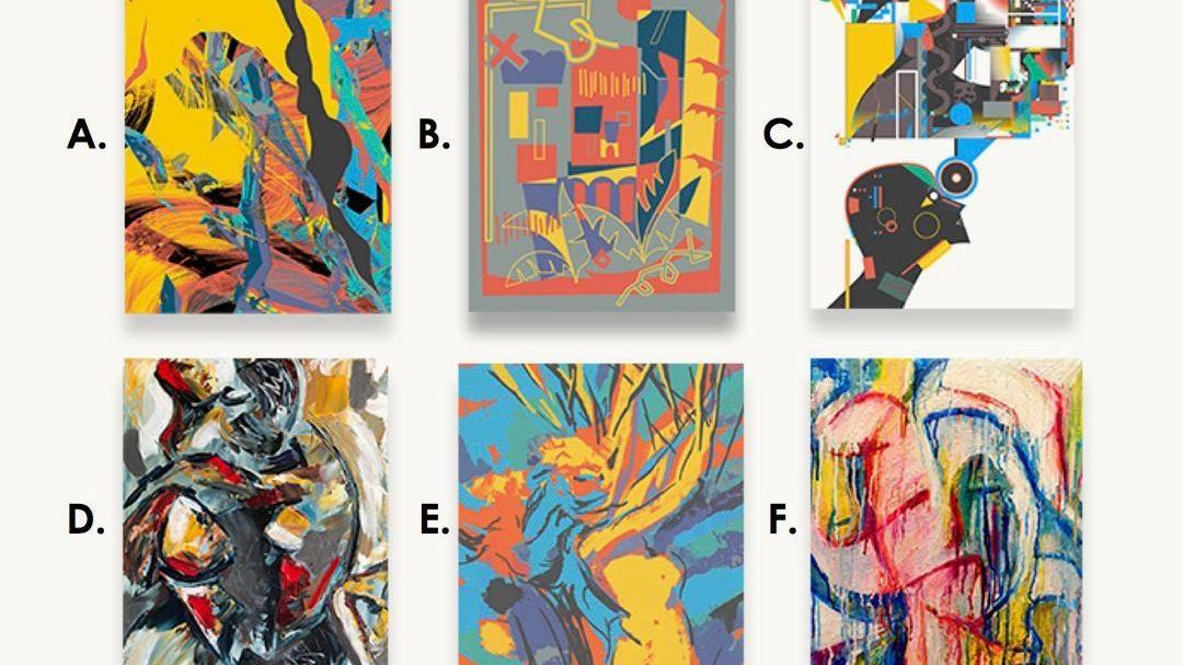 Can you guess which of these paintings was made by a robot?