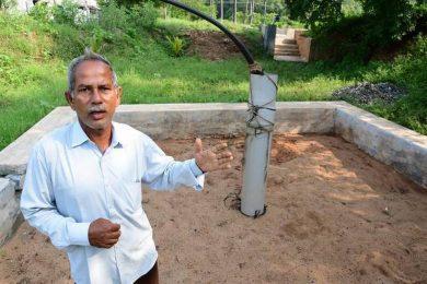 Bhungroo water storage system
