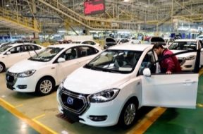 cars on the manufacturing line
