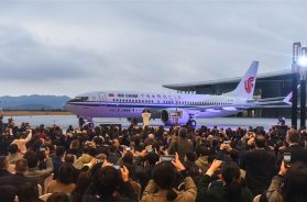 The first Boeing 737 completed in China – photo courtesy of SHINE