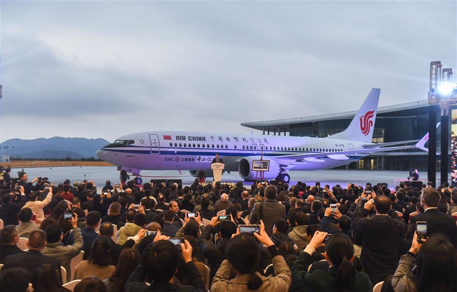 Boeing delivers first airplane completed in China