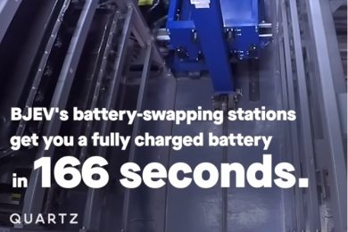 Battery swapping stations for cars gets you a fully recharged battery in 166 seconds