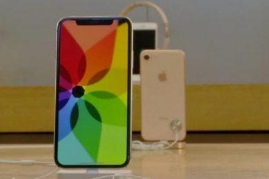 iphones on display