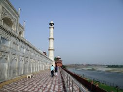yamuna river as it flows past the taj mahal