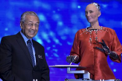 Tun M and Robot Sophia